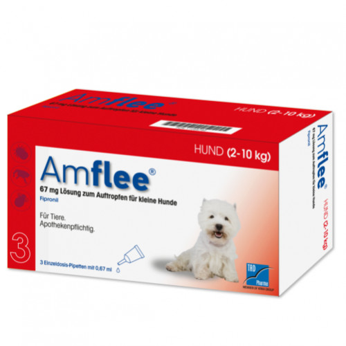 AMFLEE 67 mg Spot-on Lsg.f.kleine Hunde 2-10kg, 3 ST, TAD Pharma GmbH