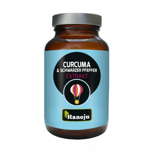 Curcuma Pulver + Schwarzer Pfeffer Extrakt 500mg, 90 ST, shanab pharma e.U.