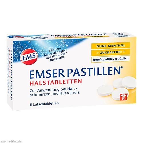 Emser Pastillen ohne Menthol zuckerfrei, 6 ST, Siemens & Co
