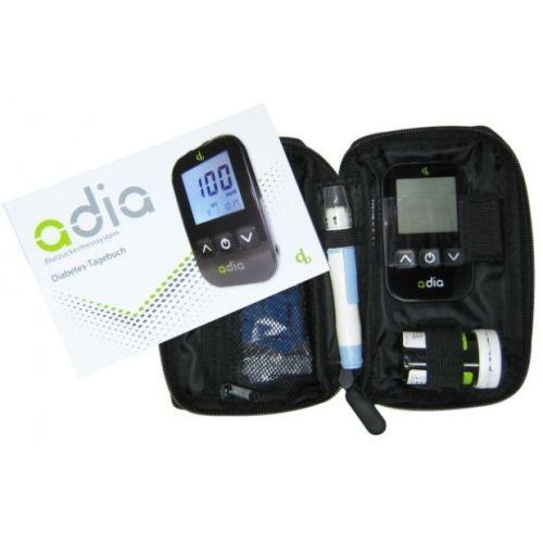 adia Blutzuckermessgerät Set mg/dl, 1 ST, Diabetikerbedarf Db GmbH