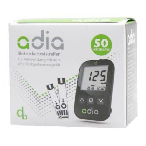 adia Blutzuckerteststreifen, 50 ST, Diabetikerbedarf Db GmbH