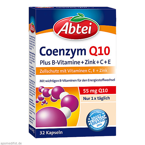 ABTEI Coenzym Q10 (Plus), 32 ST, Omega Pharma Deutschland GmbH