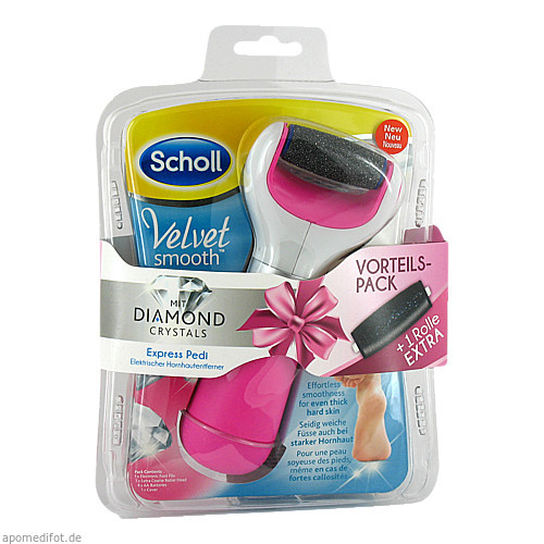 Scholl Velvet smooth Expr. Pedi Hornhautentf. pink, 1 ST, Reckitt Benckiser Deutschland GmbH