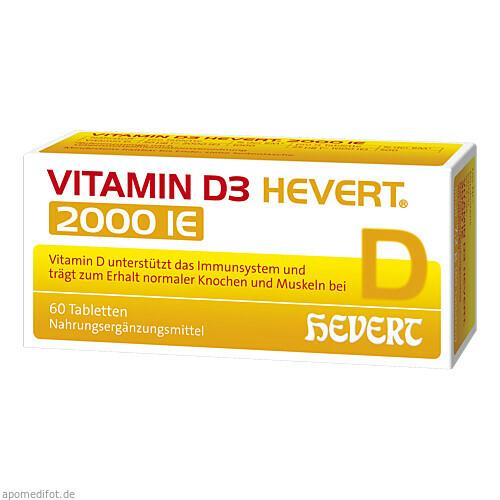Vitamin D3 Hevert 2000 IE, 60 ST, Hevert Arzneimittel GmbH & Co. KG