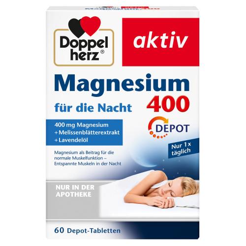 Doppelherz Magnesium 400 für die Nacht, 60 ST, Queisser Pharma GmbH & Co. KG