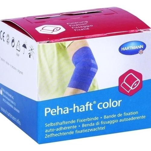 Peha-haft Color Fixierbinde latexfrei 4cmx4m blau, 1 ST, Paul Hartmann AG