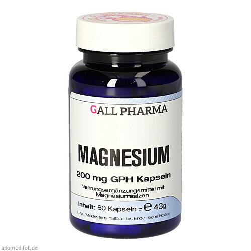 Magnesium 200mg GPH Kapseln, 60 ST, Hecht-Pharma GmbH