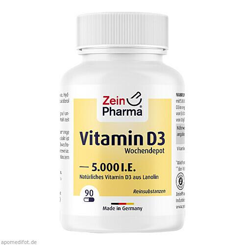 Vitamin D3 5000I.E. Wochendepot, 90 ST, Zein Pharma - Germany GmbH