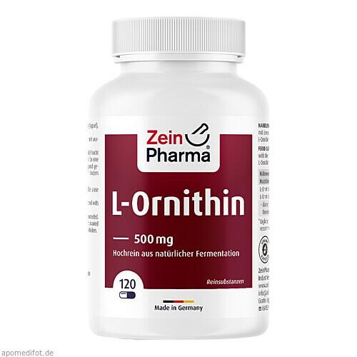 L-Ornithin Kapseln, 120 ST, Zein Pharma - Germany GmbH