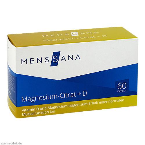 Magnesium-Citrat + D MensSana, 60 ST, MensSana AG