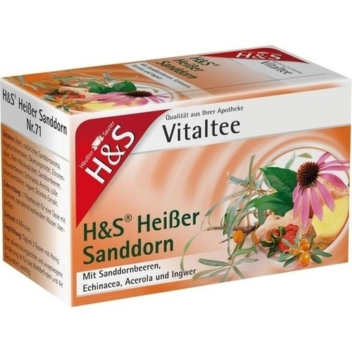 H&S Heißer Sanddorn Vitaltee, 20 ST, H&S Tee - Gesellschaft mbH & Co.
