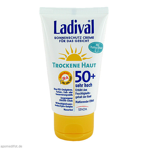 Ladival Trockene Haut Creme f.d. Gesicht LSF 50+, 75 ML, STADA GmbH