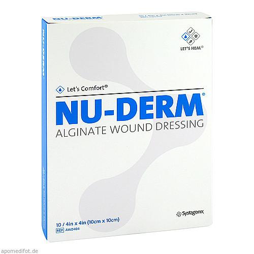 NU-DERM Alginate 10x10cm, 10 ST, Kci Medizinprodukte GmbH
