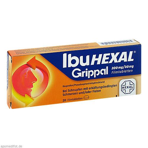 IbuHEXAL Grippal 200mg/30mg Filmtabletten, 20 ST, HEXAL AG