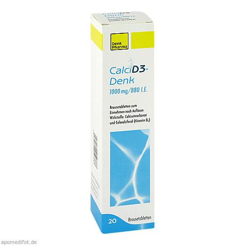 Calci D3-Denk 1000 mg / 880 I.E. Brausetabletten, 20 ST, Denk Pharma GmbH & Co. KG