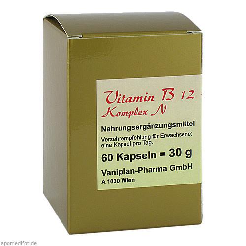 Vitamin B12 + B6 + Folsäure Komplex N, 60 ST, B&K Nutripharm GmbH