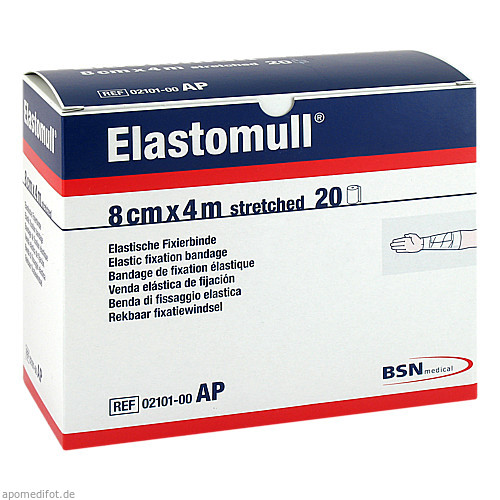 ELASTOMULL 8cmx4m 2096 elast.Fixierb., 20 ST, Aca Müller/Adag Pharma AG