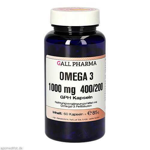 Omega 3 1000 mg 400/200 GPH Kapseln, 60 ST, Hecht-Pharma GmbH