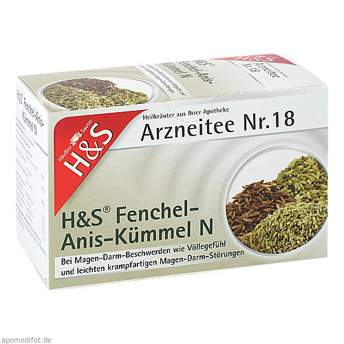 H&S Fenchel-Anis-Kümmel N, 20 ST, H&S Tee - Gesellschaft mbH & Co.