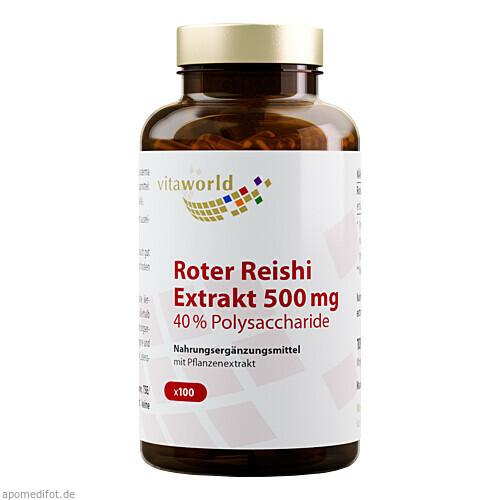 ROTER REISHI Extrakt 500mg 40% Polysaccharide, 100 ST, Vita World GmbH