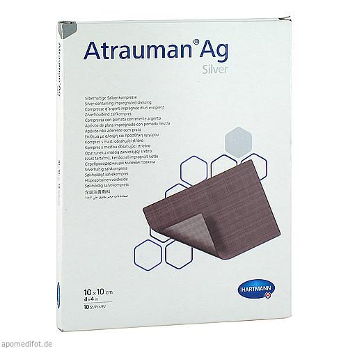 ATRAUMAN Ag 10x10 cm steril Kompressen, 10 ST, Pharma Gerke Arzneimittelvertriebs GmbH