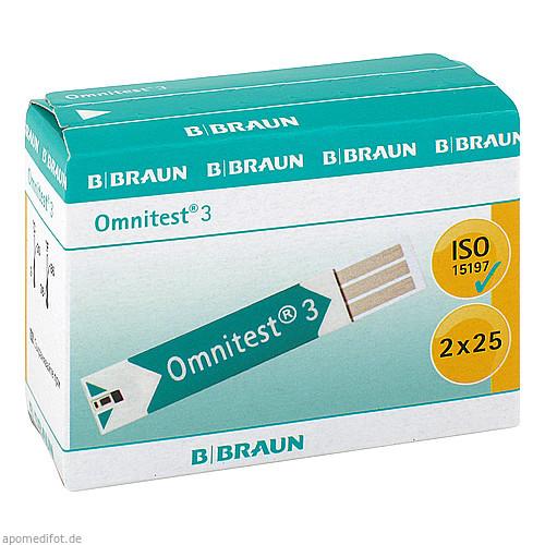 Omnitest 3 Blutzucker Sensoren Teststreifen, 2X25 ST, kohlpharma GmbH