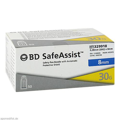 BD SafeAssist Sicherheits-Pen-Nadel 30G x 8mm, 50 ST, Becton Dickinson GmbH