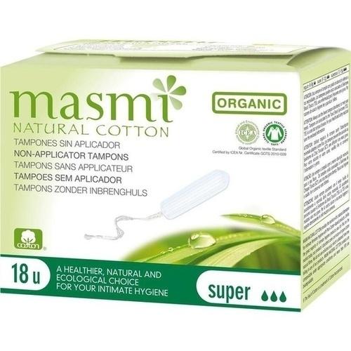 Bio Tampons Super 100% Bio Baumwolle MASMI, 18 ST, Don Dandrea Deutschland AG