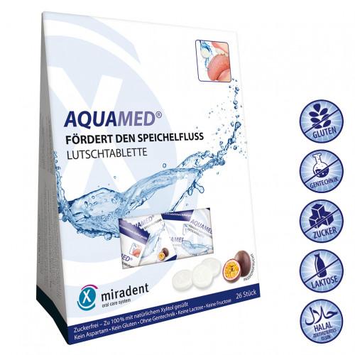 Mundtrockenheit Lutschtablette miradent Aquamed, 60 G, Hager Pharma GmbH