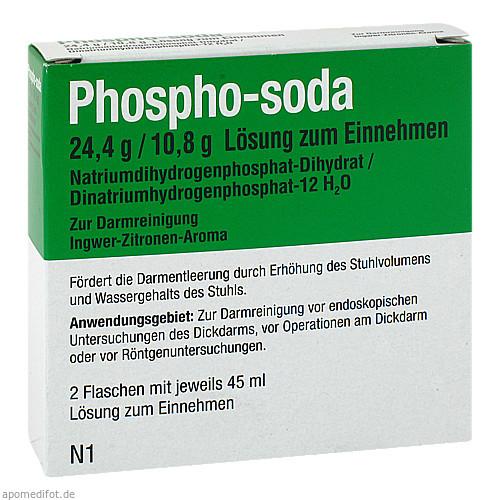Phospho-soda 24.4 g / 10.8 g Lösung zum Einnehmen, 2X45 ML, Recordati Pharma GmbH