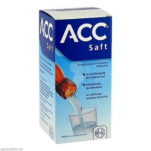 ACC Saft 20 mg/ml Lösung zum Einnehmen, 200 ML, HEXAL AG