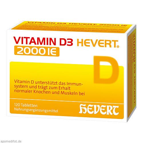 Vitamin D3 Hevert 2000 IE, 120 ST, Hevert Arzneimittel GmbH & Co. KG