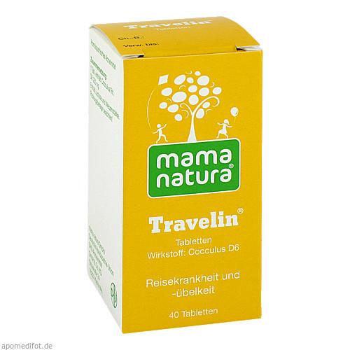 mama natura Travelin Reisetabletten, 40 ST, Dhu-Arzneimittel GmbH & Co. KG