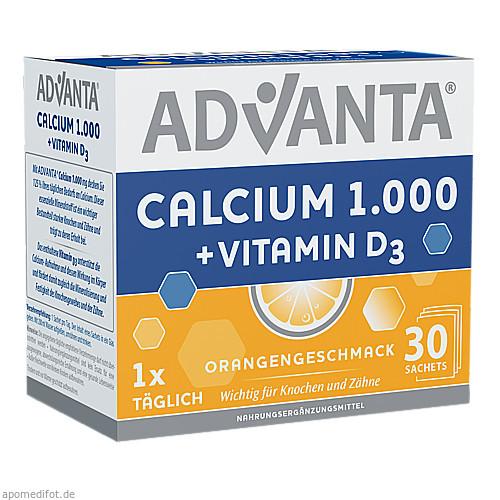 ADVANTA Calcium 1000mg + Vitamin D3 Sachets, 30X6.2 G, Tsi GmbH & Co. KG