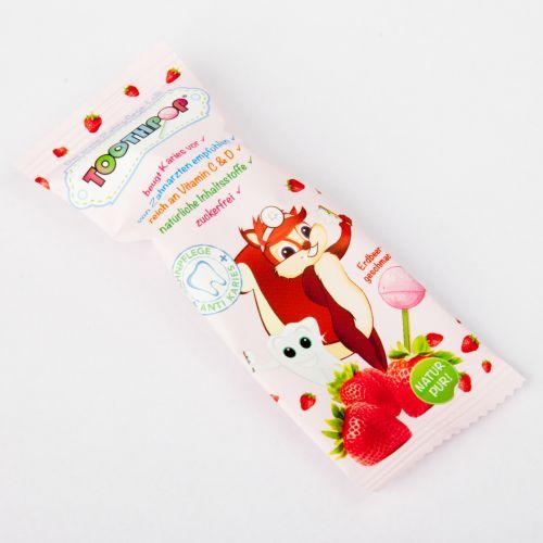 Toothpop Zahnpflegelolli Erdbeergeschmack, 1 ST, Sales Plus GmbH
