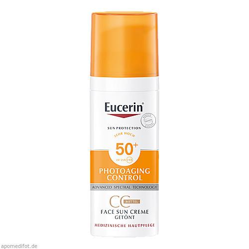Eucerin Sun CC Creme getönt mittel LSF 50+, 50 ML, Beiersdorf AG Eucerin