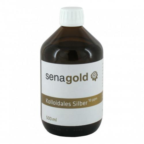 Kolloidales Silber 10ppm, 500 ML, Senagold Naturheilmittel GmbH
