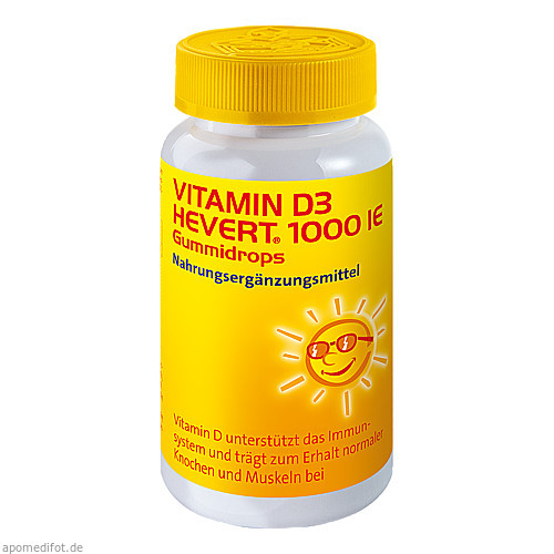 Vitamin D3 Hevert 1000 IE Gummidrops, 60 ST, Hevert Arzneimittel GmbH & Co. KG