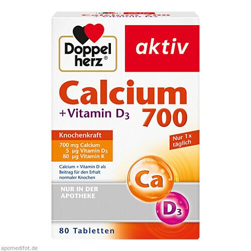 Doppelherz Calcium 700 + Vitamin D3, 80 ST, Queisser Pharma GmbH & Co. KG