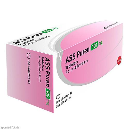 ASS Puren 100 mg Tabletten, 100 ST, PUREN Pharma GmbH & Co. KG