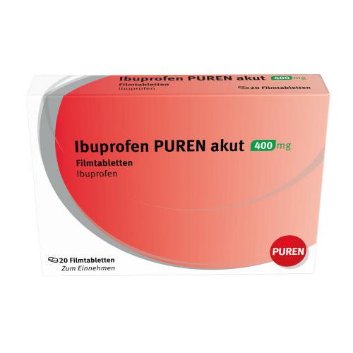 Ibuprofen PUREN akut 400 mg Filmtabletten, 20 ST, PUREN Pharma GmbH & Co. KG