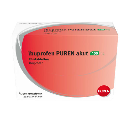 Ibuprofen PUREN akut 400 mg Filmtabletten, 50 ST, Puren Pharma GmbH & Co. KG