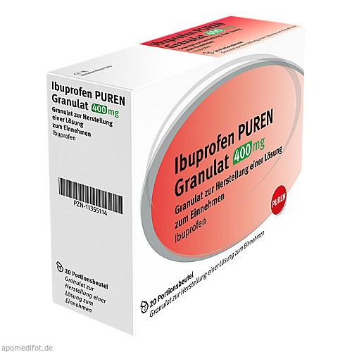 ibuprofen puren granulat 400 mg 20 st preisvergleich. Black Bedroom Furniture Sets. Home Design Ideas