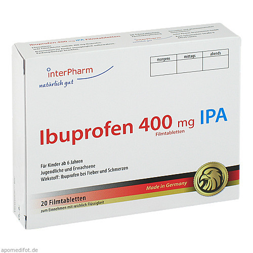 Ibuprofen 400mg IPA, 20 ST, Inter Pharm Arzneimittel GmbH
