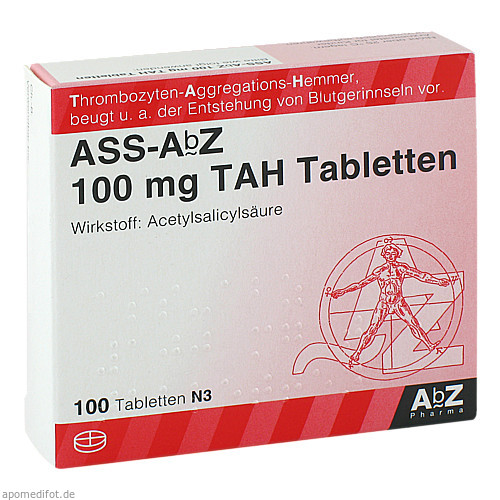 ASS-AbZ 100 mg TAH Tabletten, 100 ST, Abz Pharma GmbH
