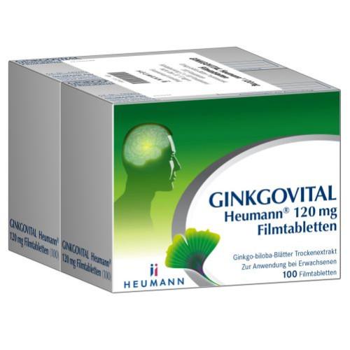 Ginkgovital Heumann 120 mg Filmtabletten, 200 ST, Heumann Pharma GmbH & Co. Generica KG