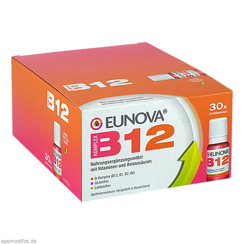 Eunova B12 Komplex LSG, 30X10 ML, STADA GmbH
