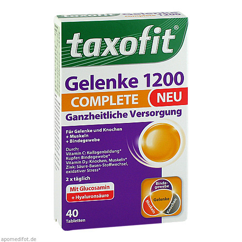 taxofit Gelenke 1200 Complete Tabletten, 40 ST, MCM KLOSTERFRAU Vertr. GmbH