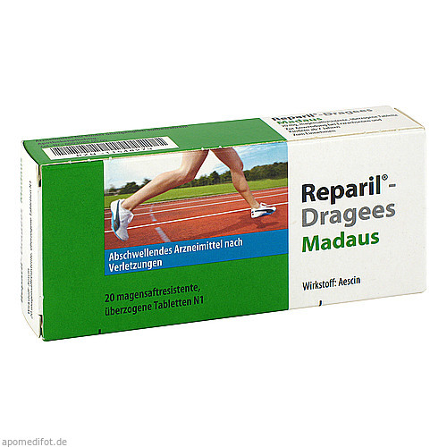 Reparil Dragees Madaus, 20 ST, MEDA Pharma GmbH & Co.KG