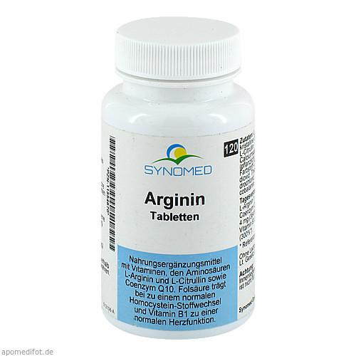 Arginin Tabletten, 120 ST, Synomed GmbH
